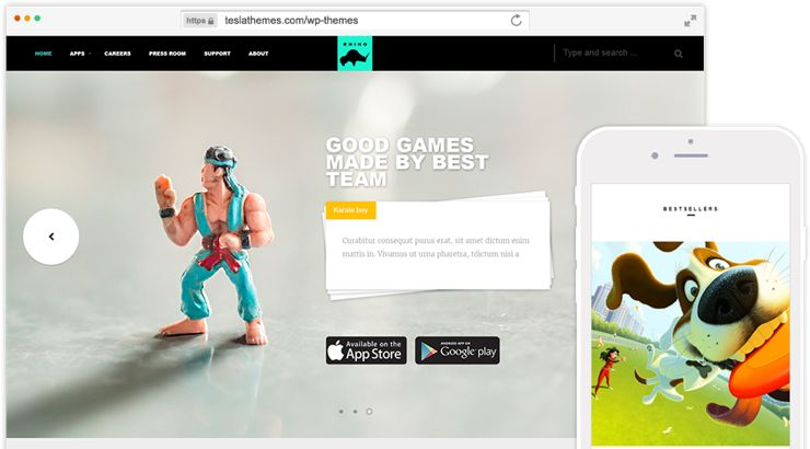 Rhino Theme for Game Developers & Gaming Discussion Hub Blog