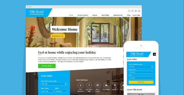 Villa Rental WordPress Lodge / Vacation Home Booking Theme