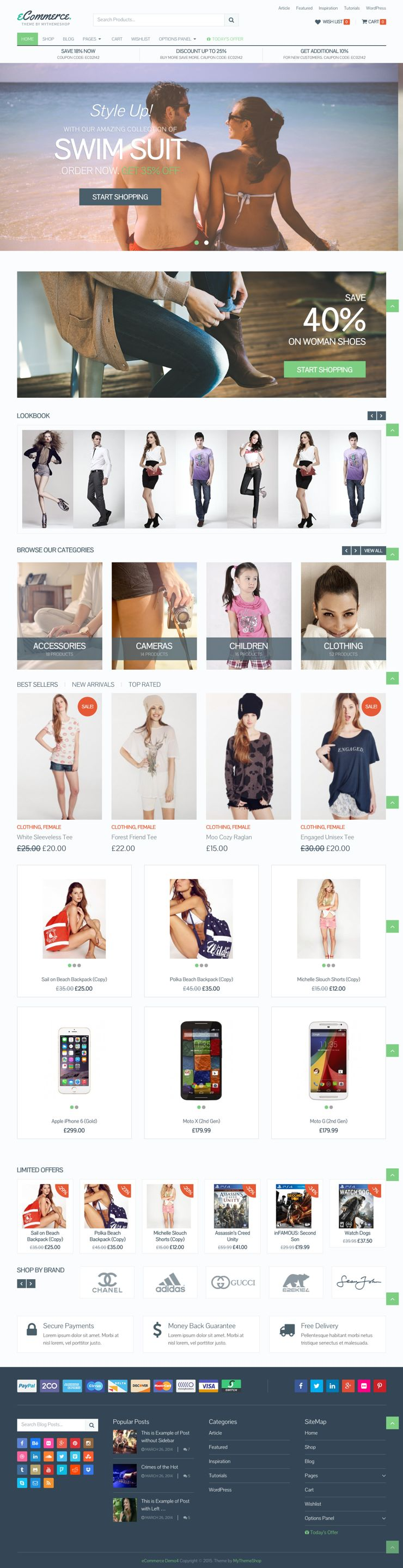 eCommerce WordPress Shopping Cart Theme