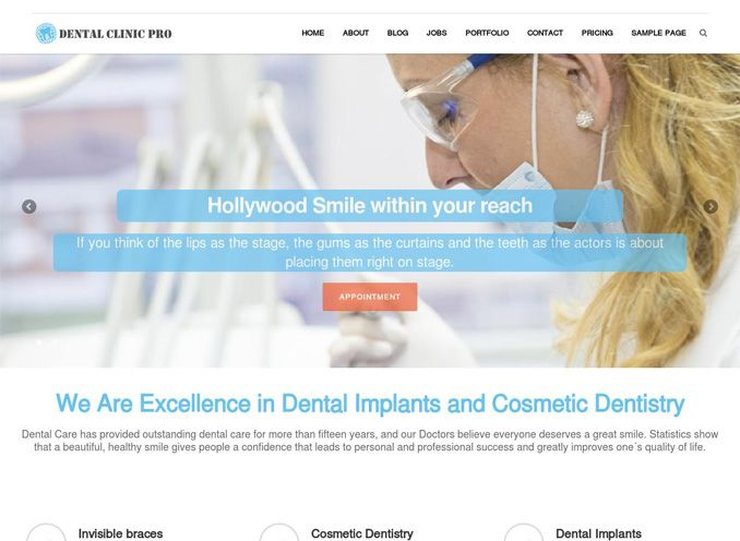 Dental Clinic Pro WordPress Dentist Theme
