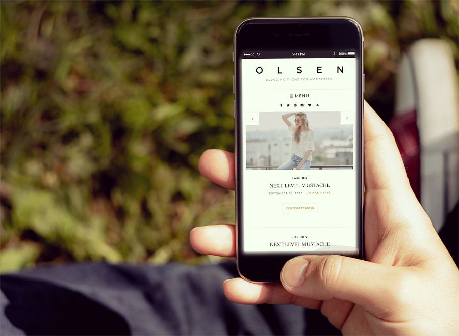 Olsen WordPress Fashion Bloggers Theme