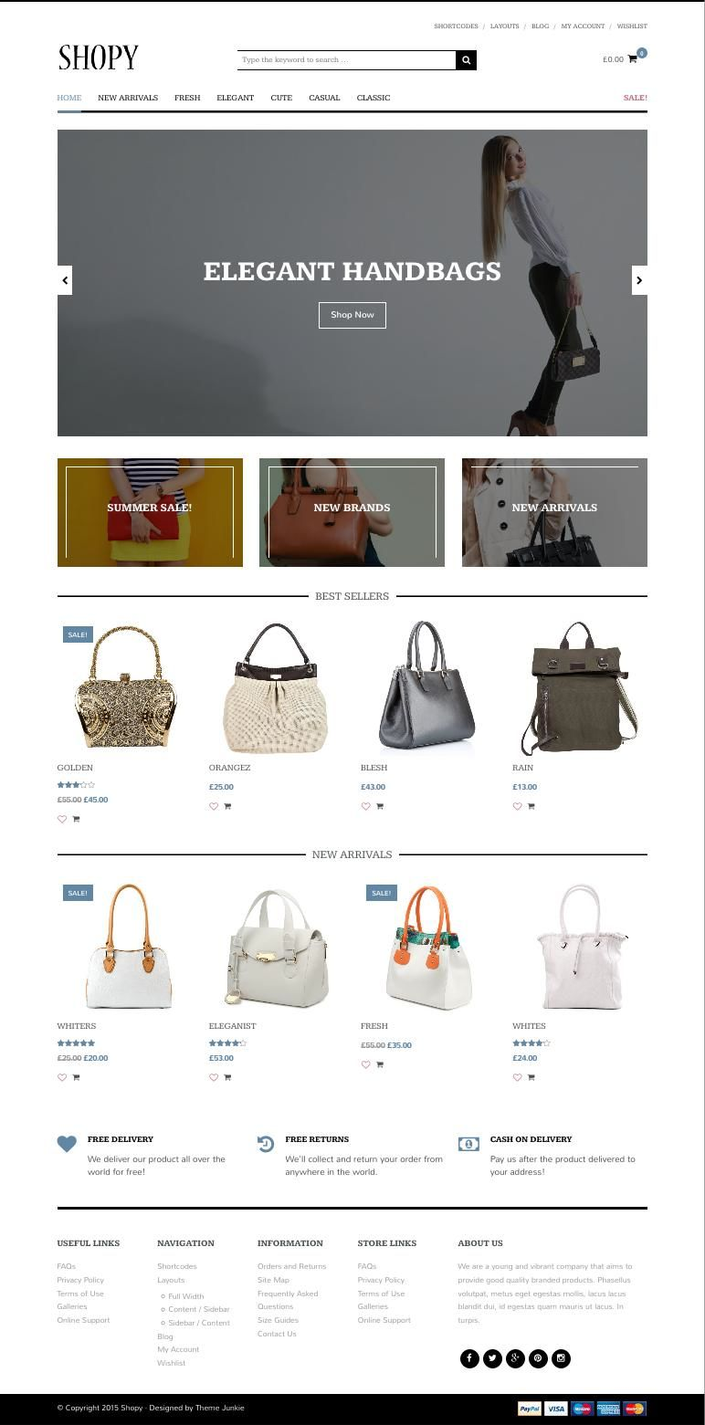 Shopy WordPress Minimalist eCommerce Theme