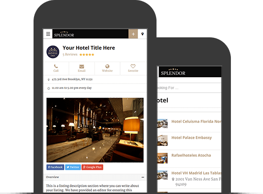 Splendor WordPress Hotel Directory Theme