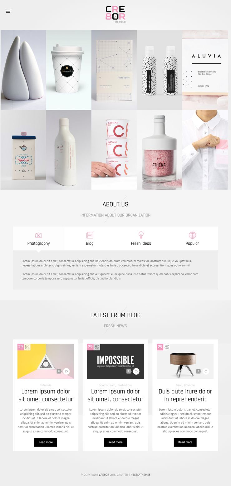 Cre8or WordPress Portfolio & Agency Theme