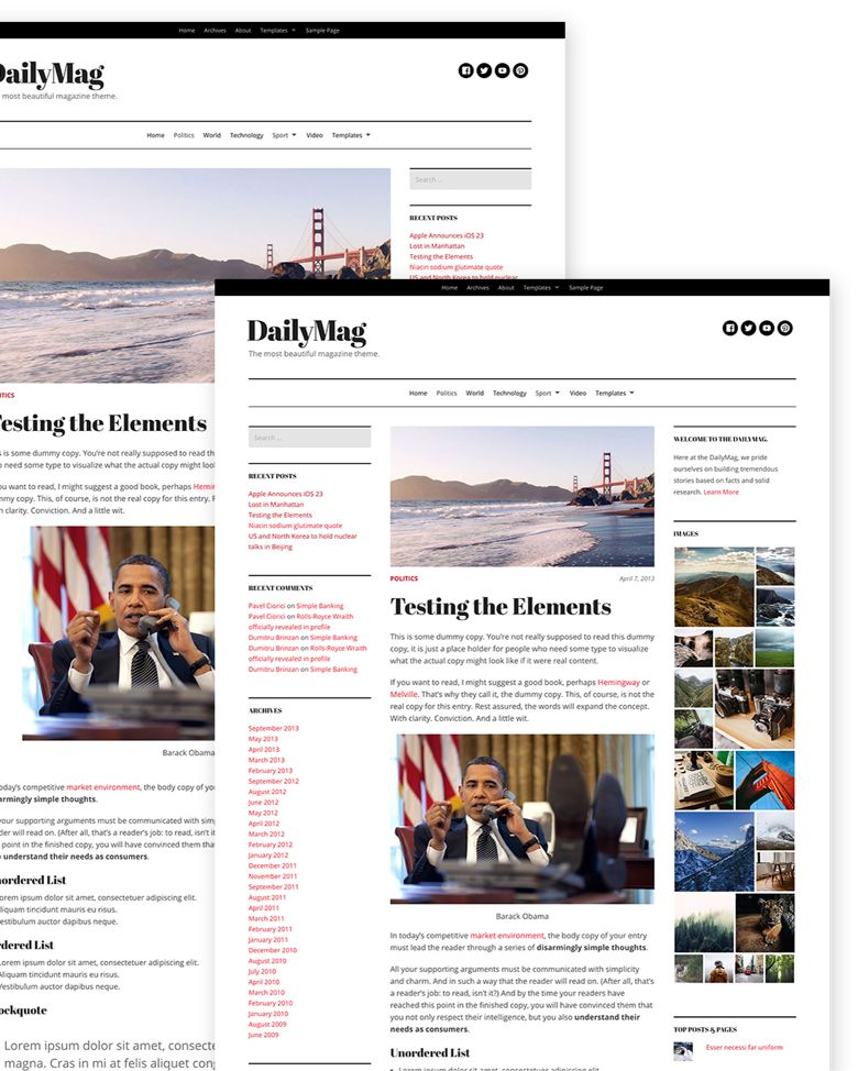DailyMag WordPress CNN.com Magazine Theme