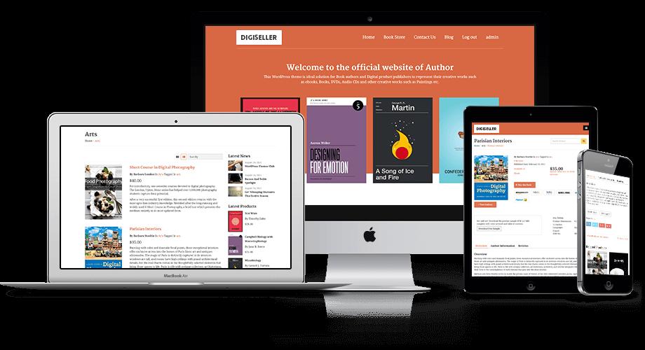 DigiSeller Responsive WordPress Digital Downloads Theme