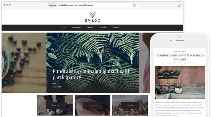Epilog WordPress Modern Bloggers Theme