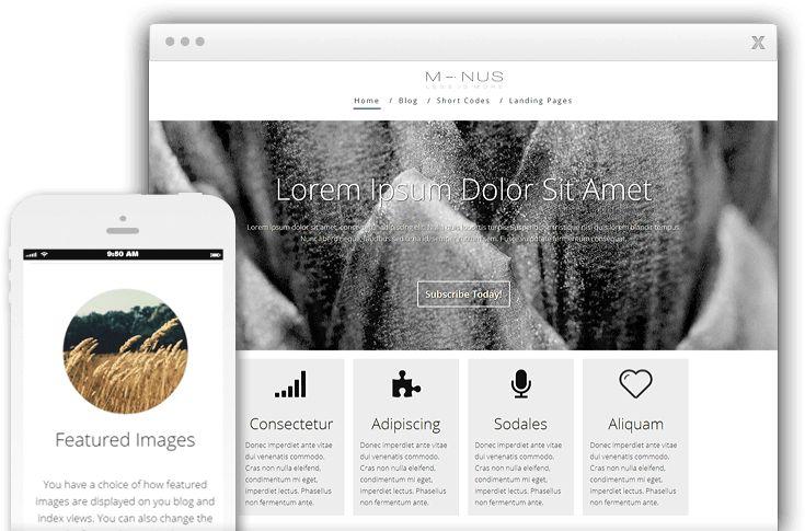 Minus WordPress Multipurpose Landing Page Theme