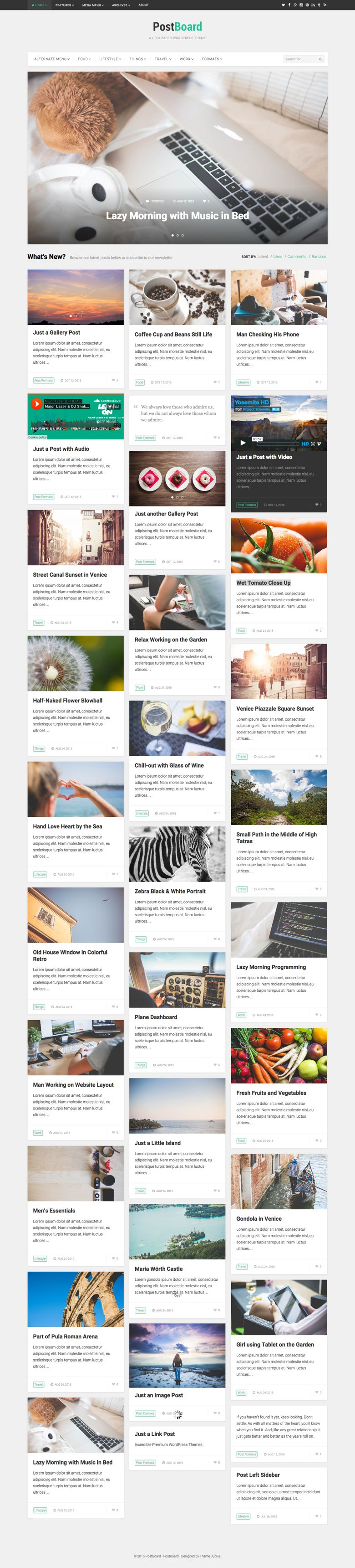 PostBoard WordPress Behance Like Theme