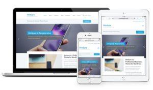 Venture 2.0 WordPress Theme for Business / Portfolio / eCommerce