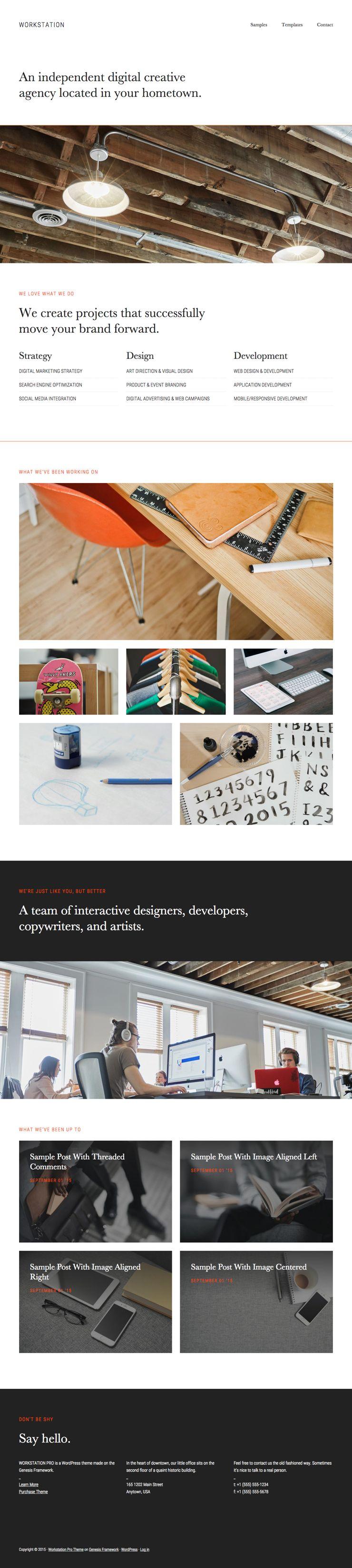 WorkStation Pro WordPress Web Designers Theme