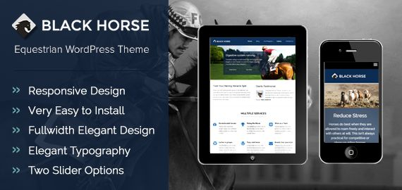 BlackHorse WordPress Horse Riding Club Theme