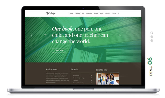 COLLEGE Education WordPress Theme