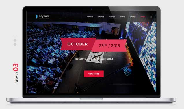 KEYNOTE Events WordPress Theme