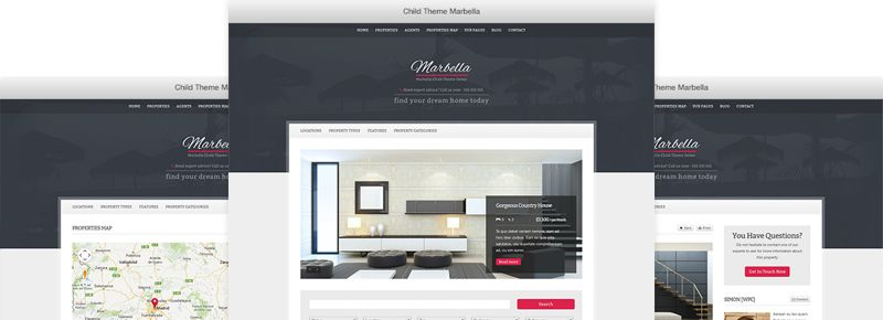 Marbella WordPress Real Estate Theme for Properties