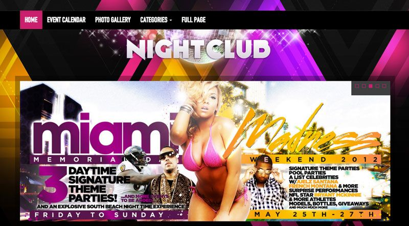 Nightclub WordPress Music DJs Theme