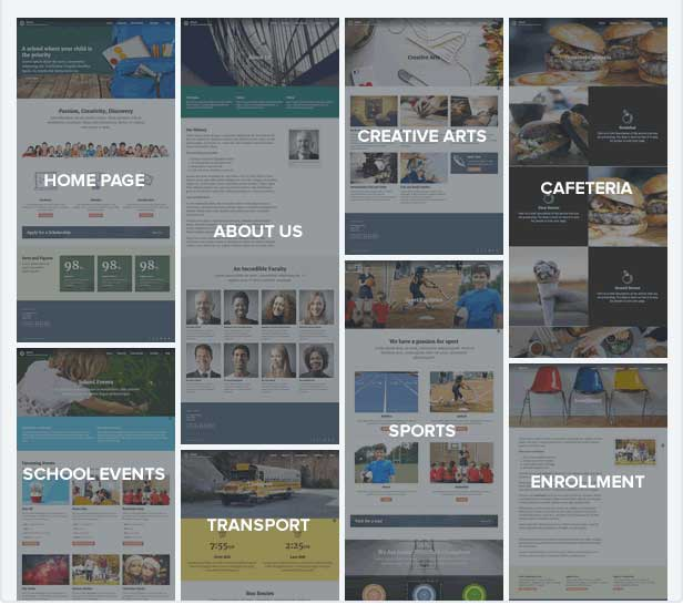 Pre-built Page Templates fo Classroom Websites
