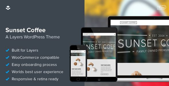 Sunset Coffee WordPress Bistros Theme