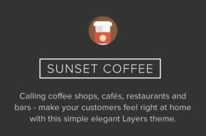 Sunset Coffee WordPress Theme for Cafe, Bars & Bistros