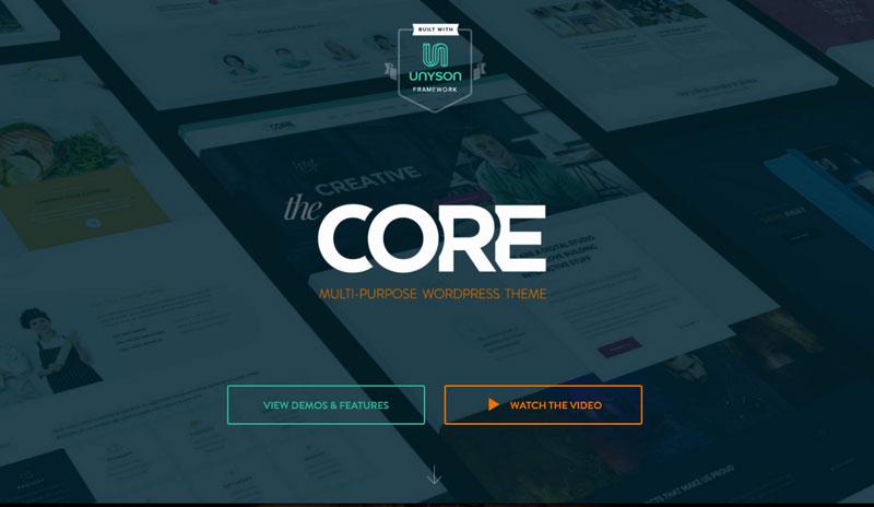 The Core – A Massive Multi-purpose WordPress Theme