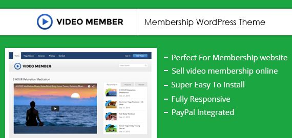 Video Member WordPress Training Video Membership Theme