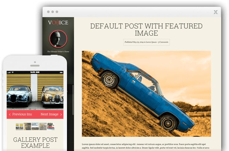Voice WordPress Personal Blogger Theme