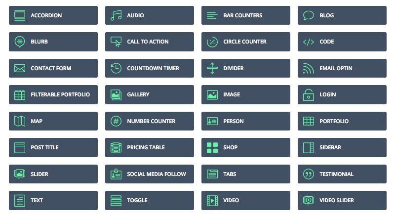 40+ Unique Content Modules for Posts & Pages