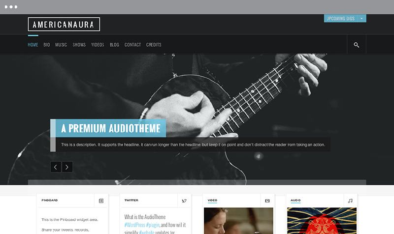 Americanaura WordPress Music or Band Theme