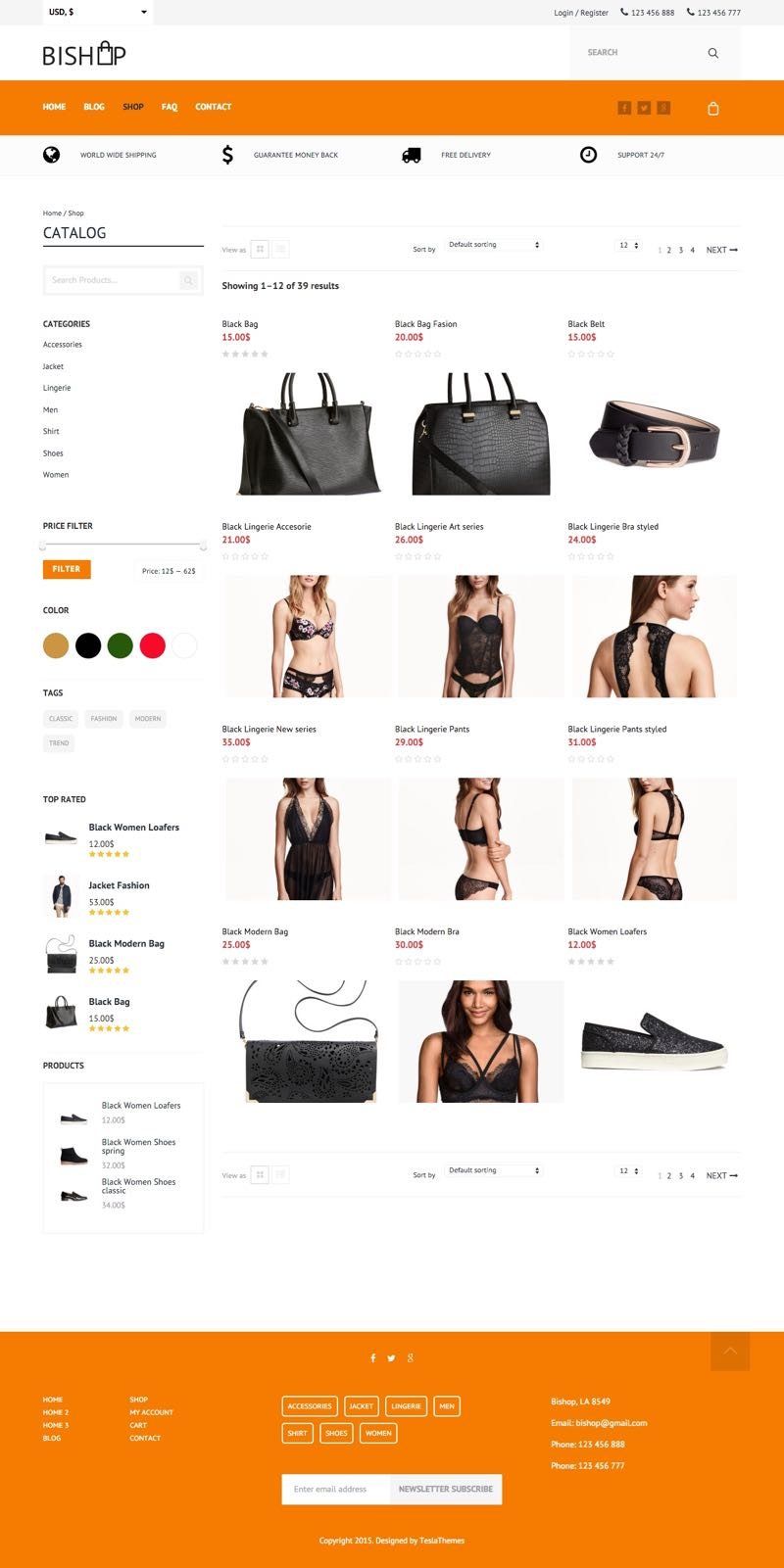 BiShop WordPress e-Commerce Shopping Store Theme