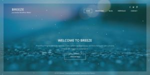 Breeze WordPress Full Screen Portfolio Business Theme