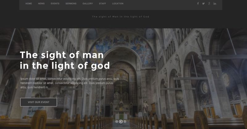 Create an Online Church Events Website