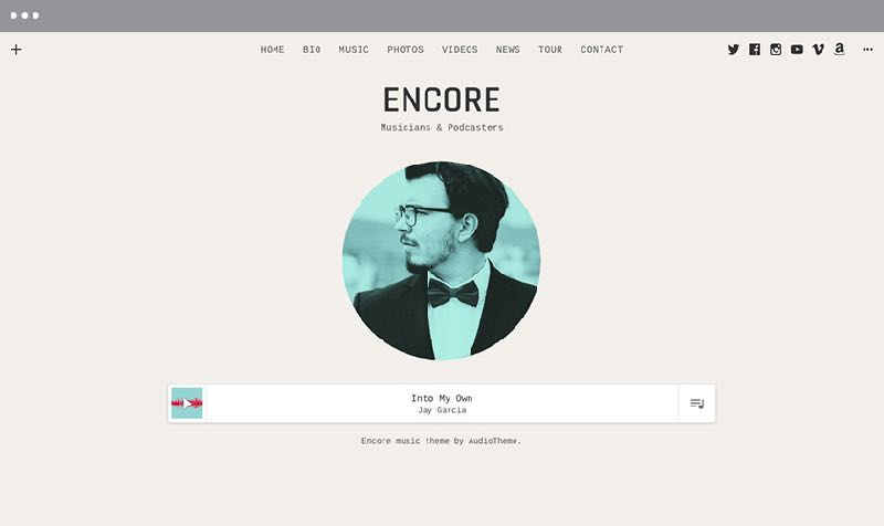 Encore WordPress Music or Band Theme