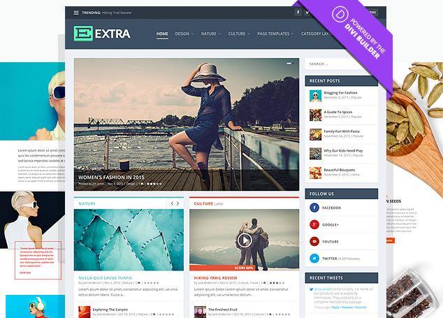 Extra WordPress Magazine Bloggers Theme