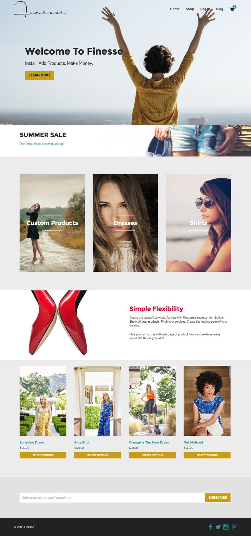 Finesse WordPress Product Selling Page Theme