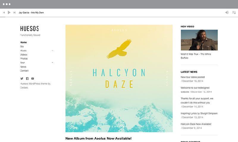 Huesos WordPress Music or Band Theme