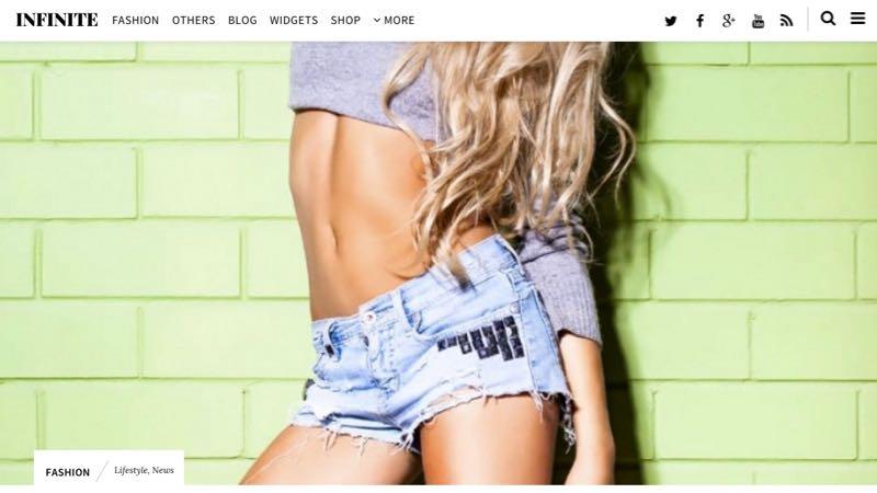 Infinite WordPress Magazine Style Theme