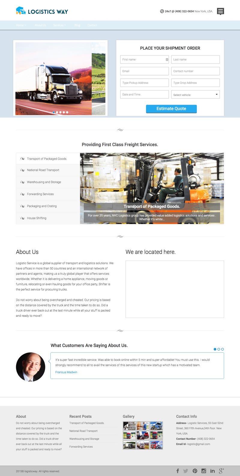 Logistics Way WordPress Transportation Theme