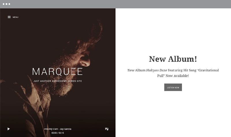 Marquee WordPress Music or Band Theme