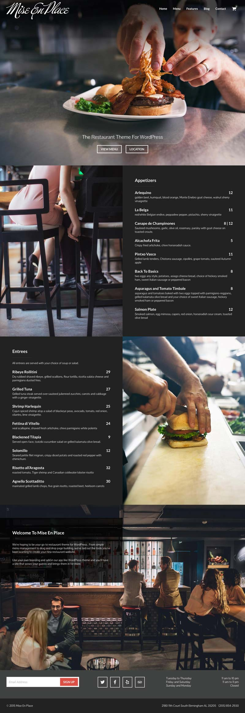 Mise En Place WordPress Online Food Ordering / Restaurant Theme