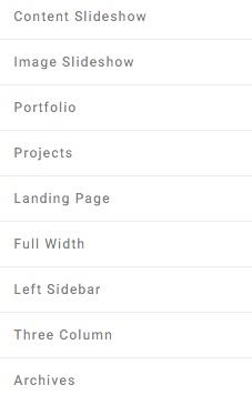 Pre-made Page Templates for Luxury Blog WordPress Theme