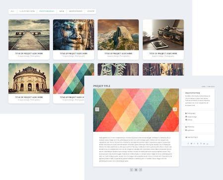 Project Portfolios on Extra Theme