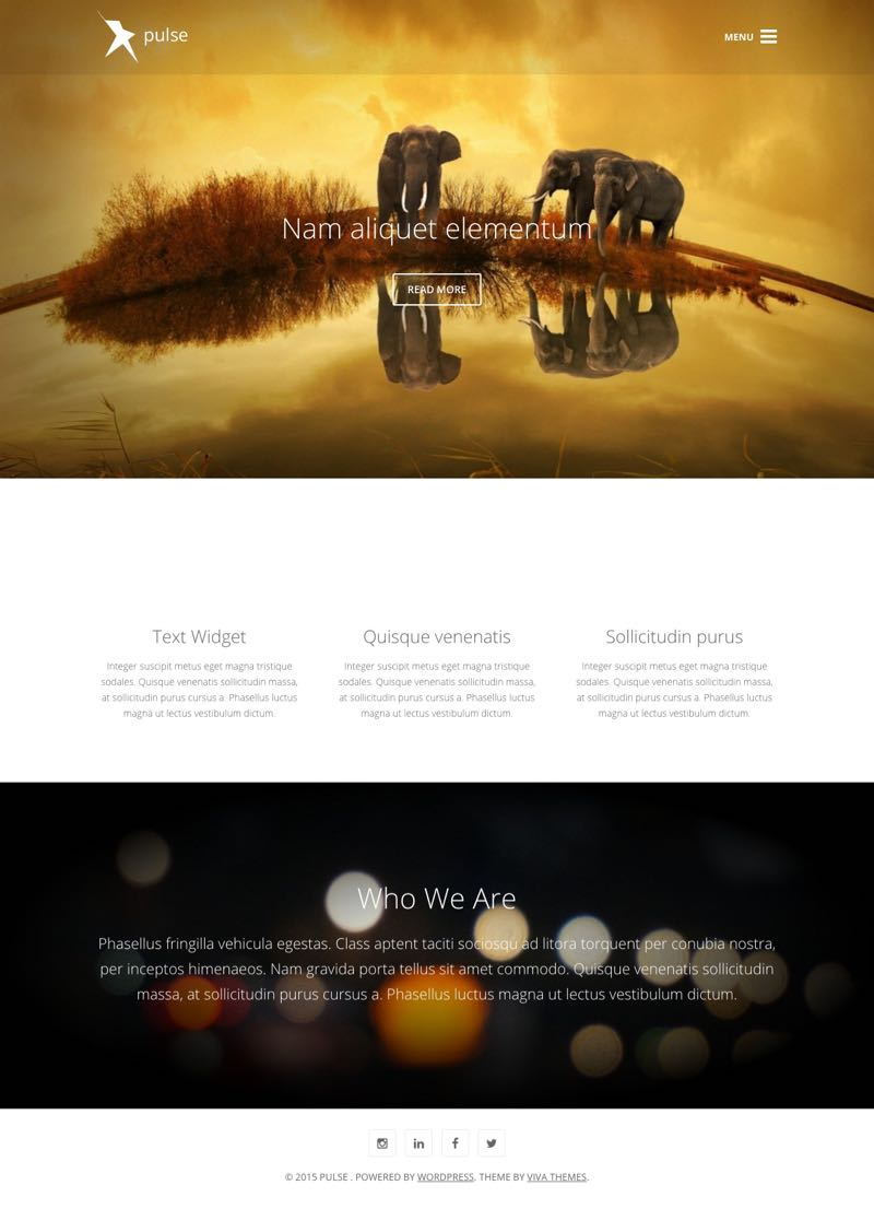 Pulse WordPress Minimal Business Theme