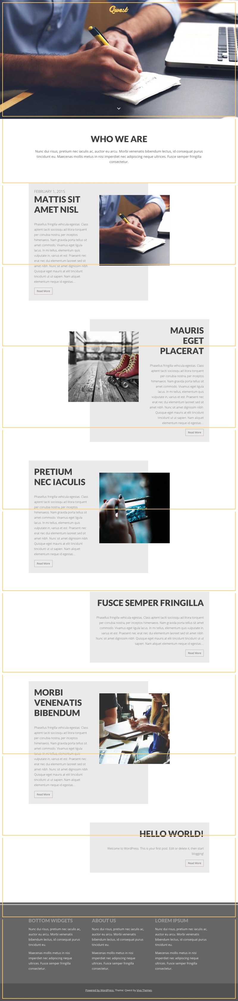 Qwest WordPress Parallax Effect Theme