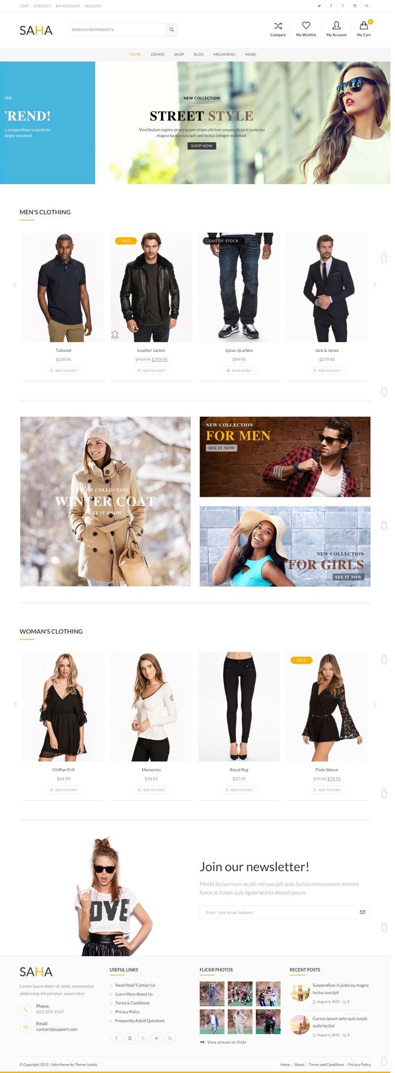 Saha WordPress Clothes, Coffee, Flowers, Interior, Kids & Spa Theme