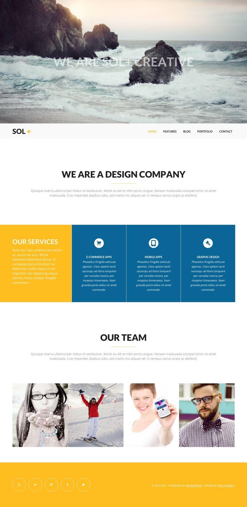 Sol WordPress Creative Agency Theme
