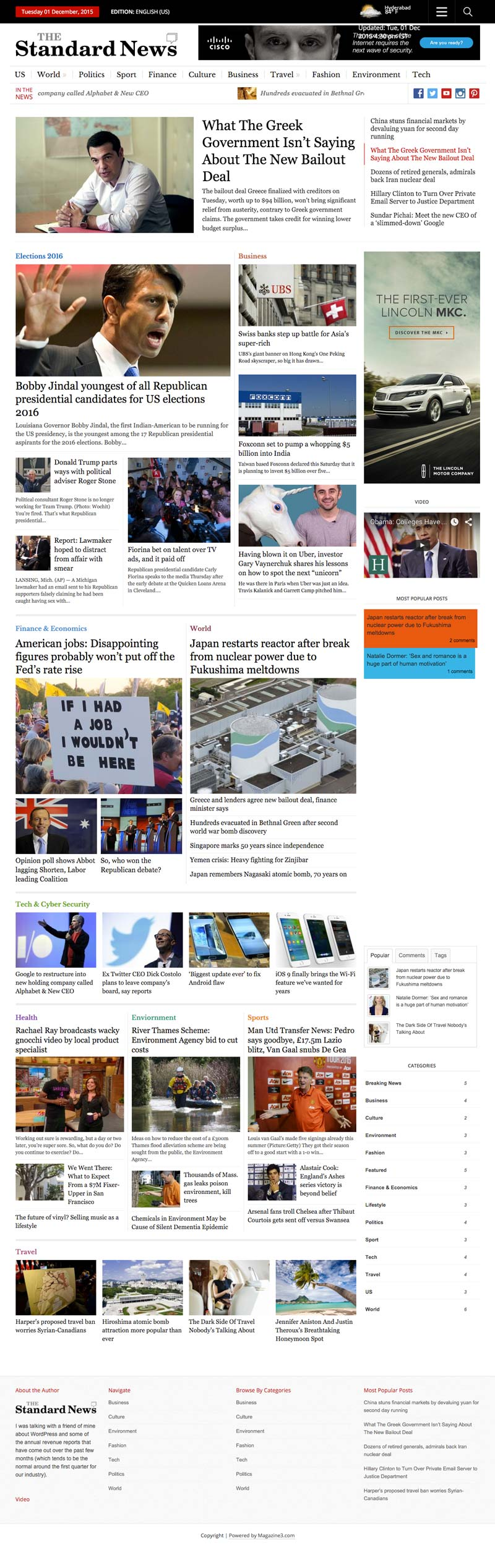 Standard News WordPress Magazine Theme