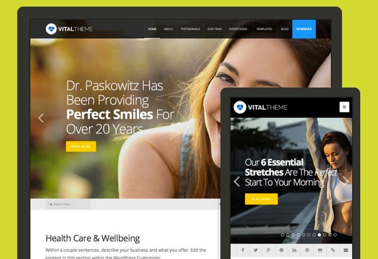 Vital WordPress Healthcare Theme