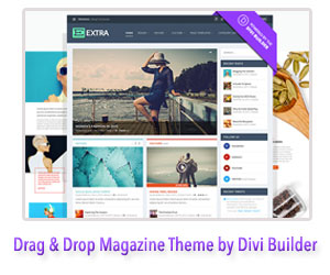 Drag & Drop WordPress Magazine Theme