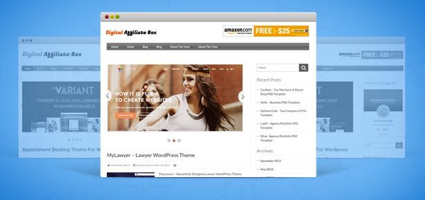 Digital Affiliate Box WordPress Commissions Theme