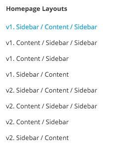 SiteBox Theme - Homepage Layouts